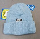 RipNDip Women's Lord Nermal Beanie CD4 Light Blue One Size NWT