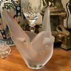Lovely Lalique SYLVIE Large Vase Bowl with Frog