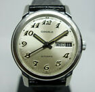 SERVICED Bulova Caravelle Vintage Automatic Day Date Sunray Breguet dial AS2066