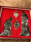 LENOX MILLENNIUM NATIVITY SET LARGE  HEAVY CRYSTAL SET