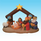 6 Foot Christmas Inflatable Nativity Scene with Three Kings Party Decoration up