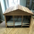 Wooden Nativity Creche Homemade Stable Barn Inn Christmas Decor large