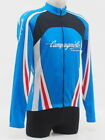 Campagnolo Mens Long Sleeve Cycling Jersey Size Large Blue White