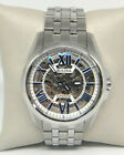 BULOVA STAINLESS STEEL SKELETON AUTOMATIC WATCH 96A187 $495.00
