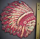 INDIANNATIVEAMERICAN CHIEFMOTORCYCLEPRIDEPROUDTRIBE11 PATCH