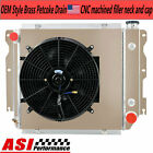 3 Row Aluminum Radiator+Shroud Fan Fit 1987 2006 88 Jeep Wrangler TJ YJ Chevy V8