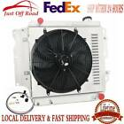 3 Row Radiator Shroud Fan Thermostat For Jeep Wrangler TJ YJ Chevy V8 Swap 87 06
