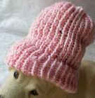 THICK Ribbed Beanie Knit Hat Ski Cap Skull Warm Winter Baby Size Pink (Sparky)