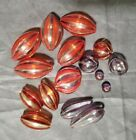 14 VENETIAN STYLE HAND BLOWN GLASS BEADS