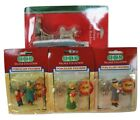 Lot of 4 New Vintage Lemax Porcelain Christmas Village Figures 1996