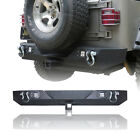 Vijay Black texture Rear Bumper with Hook Receiver for 87 06 Jeep Wrangler TJ YJ