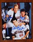 Charlie Sheen Corbin Bernsen Tom Berenger Major League signed 8 x 10 photo JSA