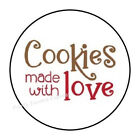 30 COOKIES MADE WITH LOVE ENVELOPE SEALS LABELS STICKERS PARTY FAVORS 15 ROUND