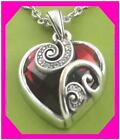 BRIGHTON CUPIDS LOVE HEART Red Crystal Pendant Retired NECKLACE NWotag
