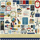 12x12 Sheet Echo Park Paper SCENIC ROUTE Travel Theme Scrapbook Element Stickers