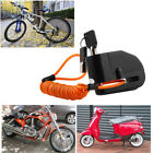 110DB Motorcycle Anti-theft Wheel Disc Lock Security Alarm W/Bag Brake Cable Set