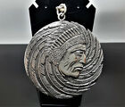 STERLING SILVER 925 Pendant American Indian Native American Pendant Tribal Chief