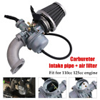 off-road Motorcycle Carburetor Air Filter Intake Pipe Fit For 110cc 125cc Engine