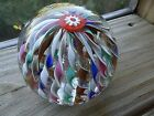 FRATELLI TOSO Murano Art Glass TWISTED Ribbon CROWN Paperweight Aventurine