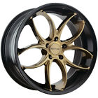 4 Sothis SC103 20x85 5x120 +38mm Black Bronze Wheels Rims 20 Inch