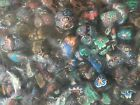 NEW Lot of 100 Polymer Clay MUSHROOM Pendant WHOLESALE Floral Hippy Skull
