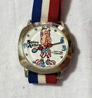 Vintage Dirty Time Spiro Agnew with Golf Club Political Character Watch