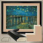 40Wx32H STARRY NIGHT OVER RHONE by VAN GOGH DOUBLE MATTE GLASS and FRAME