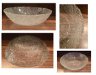 Vintage Embossed Textured Clear Glass Serving Fruit Bowl 115 x 3
