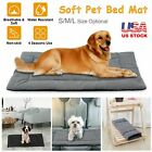 Pet Dog Large Bed Cat Mat Soft Plush Cushion Reversible Water Resistant Washable