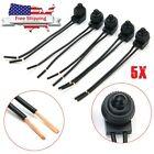 5Pcs Waterproof Push Button Latching On Off Switch with 4 Leads