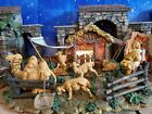 Fontanini CORRAL 50244 5 Nativity Set Lighted with Animals Shepherd Heirloom