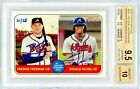 Ronald Acuna Freeman 2018 Topps Heritage Real One Dual Auto #21 25 BGS 9.5 10