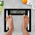 WEIGHT WATCHERS Glass Body Fat Scale  Clear Black