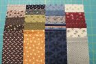 40 CIVIL WAR REPRODUCTION JELLY ROLL 25 x 44 STRIPS QUILT FABRIC MARCUS D
