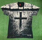 Zero Skateboards Jamie Thomas cross t shirt All Over Print Sz Small Rare Vtg