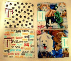 Cats Dogs Paw Prints Dog Words Fat Quarters 18x 21 100 Cotton