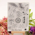 Clear stamps Sea Travel to beach rubber Silicone stamps Scrapbooking craft NpGT