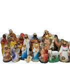 Vintage Christmas Nativity Lot of 24 Various Pieces Mary Joseph Jesus Wise Men
