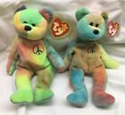 TY Beanie Baby: TWO Peace Bears with ORIGIINAL tags; other oddities. Get both!