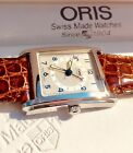 Oris Rectangular Pointer Date Auto 584 7460 40 81 Orig Leather Bnd With Box MINT