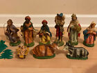 Vintage Christmas NATIVITY SET 9 Piece Made in Italy