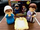 Vintage Empire Childs Nativity LightUp Blow Mold Set Baby Jesus Mary Joseph RARE
