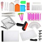LAMPTOP 58-Pack 5D Diamond Painting Tools and Accessories Kits with Dimmable A4