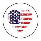 30 DISTRESSED HEART FLAG ENVELOPE SEALS LABELS STICKERS PARTY FAVORS 15 ROUND