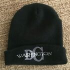 Washington DC Cuffed Black Knit Beanie one size. excellent condtion