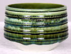 Early Poole Studio Pottery Carved Vase Bowl in Delphis Type Mid 1960s FREEPOST