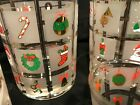 Vintage Culver 4 Holiday Christmas Potpourri Glasses Double Old Fashioned 14 oz