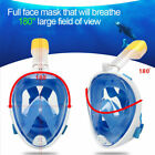 Full Face Mask Swimming Underwater Diving Snorkel Scuba For GoPro Glass Anti Fog