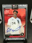 2020 Topps Now Road to Opening Day ELOY JIMINEZ AUTO Autograph RED 8 10