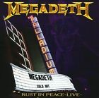 MEGADETH - Rust in Peace LIVE (CD) megadeath BRAND NEW